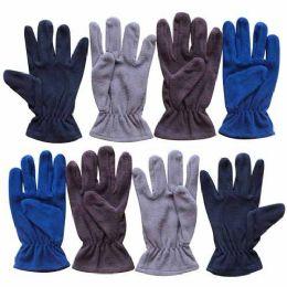 60 Bulk Wholesale 9.5 Mens Assorted Fleece Glove 4 Colors