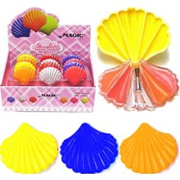 192 Bulk Magic Seashell Lip Gloss Compacts