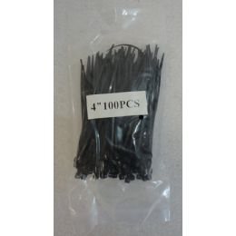 "48 Bulk 100 Piece 4"" Cable Ties [black]"