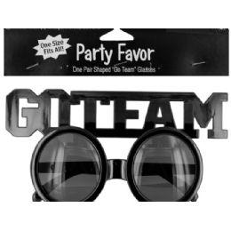144 Bulk Go Team Shaped Party Favor Glasses