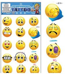 200 Bulk Emoji Temporary Tattoos