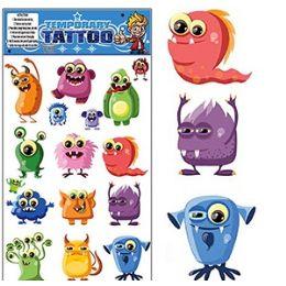 200 Bulk Funny Monster Temporary Tattoos
