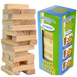 24 Bulk Large Wooden Tower Games