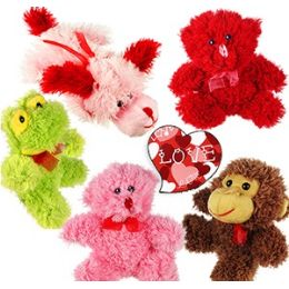 48 Bulk Mini Plush Lovey Animal Assortments
