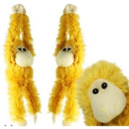 144 Bulk Plush Hanging Baby Monkeys