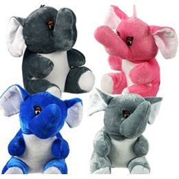 96 Bulk Plush Baby Elephants