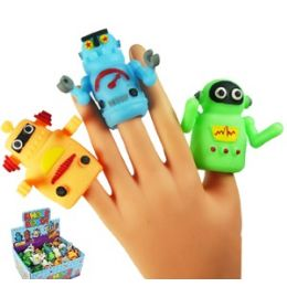 144 Bulk Robot Finger Puppets.
