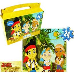 24 Bulk Disney's Jake And The Pirates Gift Box Puzzles