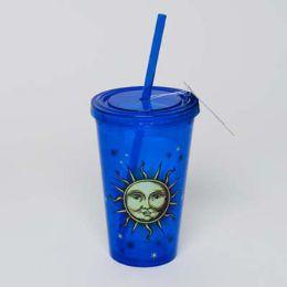 20 Bulk Tumbler Insulated Acrylic 16oz W/straw Celestial Cup