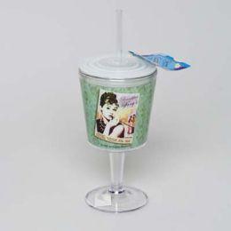 20 Bulk Goblet Insulated 12oz W/straw Audrey Tiffany