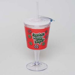 20 Bulk Goblet Insulated 12oz W/straw Santas Liquid Helper