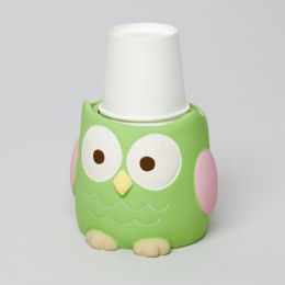 48 Bulk Cup Dispenser Love And Nature Owl Resin Rubber Finish