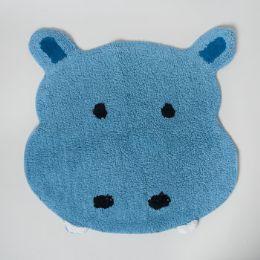 20 Bulk Bathroom Rug Safari Tufted Blue Hippo