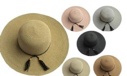 48 Bulk Womans Sun Hat With Ribbon