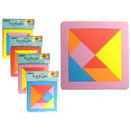 """288 Bulk Va Puzzle. 8"""" X 8"""" X 8mm Thick 4 Assorted Colors"""