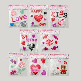 96 Bulk Gel Sticker Valentine