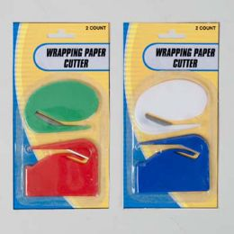 96 Bulk Wrapping Paper Cutter 2pk 2styles/colors/pk 12pc