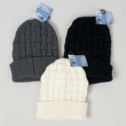c8590068e9196d Wholesale Hat Basket Weave Knit Ladies Grey/cream/black Ht/jhook ...