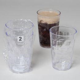 48 Bulk Tumblers GlasS-Look Clear 2pk 18 Oz In A White Pdq