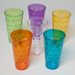 48 Bulk Tumblers GlasS-Look 6 Colors 1ct 24 Oz In Pdq
