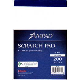 48 Bulk Ampad Scratch Pad 4x6 - 200 Sheets - White