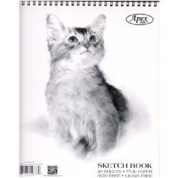 48 Bulk Sketch Book, Poly Cover, 9x12, 20 Sheets In Display