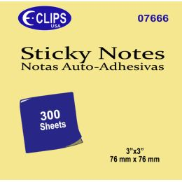 48 Bulk Sticky Notes, 300 Sheets, Yellow