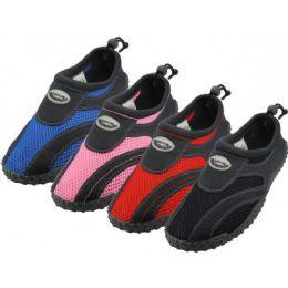 36 Bulk Youth's Wave Aqua Socks