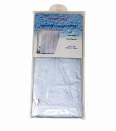 96 Bulk Heavy Duty Shower Curtain Liner Clear
