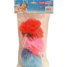 72 Bulk 3pc Children Bath Sponge 20grams