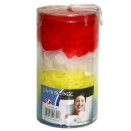 72 Bulk 4pc Bath Sponge On Plastic Case 7x4 in