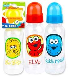 96 Bulk Elmo 9 Oz Baby Bottle