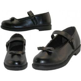 24 Bulk Big Girls Mary Janes Black School Shoe