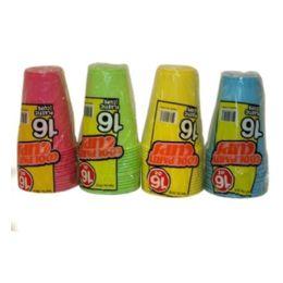 96 Bulk 16pc Cup Asst Colors 16oz