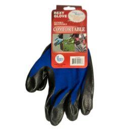 120 Bulk Blue Poly With Blacknitrile Coat Gloves Size Medium
