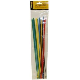 96 Bulk 20 Piece 14 Inch Cable Ties Assorted Colors