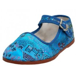 36 Bulk Toddlers' Brocade Mary Janes ( Turquoise Color Only)