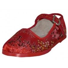 36 Bulk Toddlers' Brocade Mary Janes ( Red Color Only)