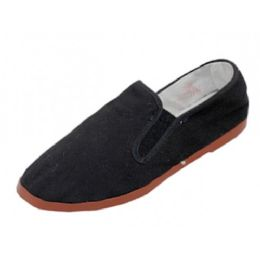 36 Bulk Boy's Slip On Twin Gore Cotton Upper With Rubber Out Sole Kung Fu Shoes