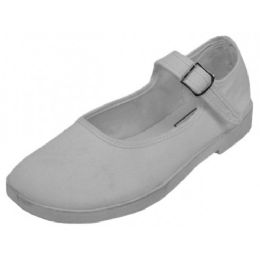 36 Bulk Girls' Cotton Mary Jane Shoes (white Color Only)