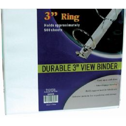 "8 Bulk Binder - 3"" - View Thru - Assorted Colors"