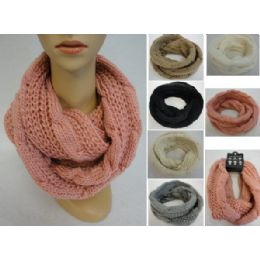 24 Bulk Knitted Infinity Scarf [lg Cable Knit]