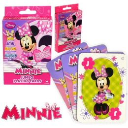 48 Bulk Disney's Miniie's BoW-Tique Jumbo Playing Cards