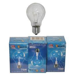 80 Bulk 3pc Clear Light Bulb 75w