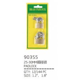 144 Bulk Locks 2 Piece 25.30 mm