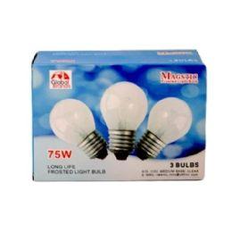 80 Bulk 3 Piece Clear Light Bulbs 75 watt