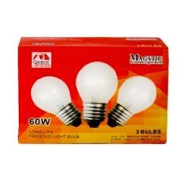 80 Bulk 3 Piece Clear Light Bulbs 60 watt