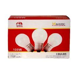 40 Bulk 3 Piece Frosted Light Bulb 100 watt