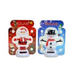 48 Bulk Solar Power Dancing Santa, Snowman