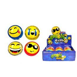 72 Bulk Smiley Face Magic Yo yo